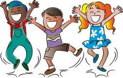 glckliche-springende-kinder-der-karikatur-51022864
